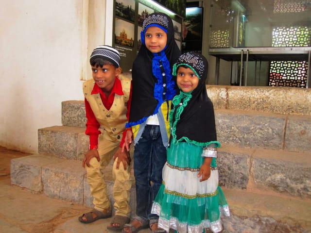 Enfants indiens musulmans