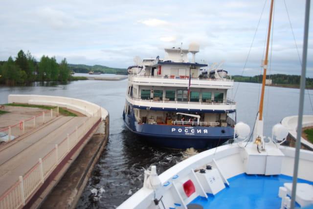 entrée dans le canal Volga-Baltique