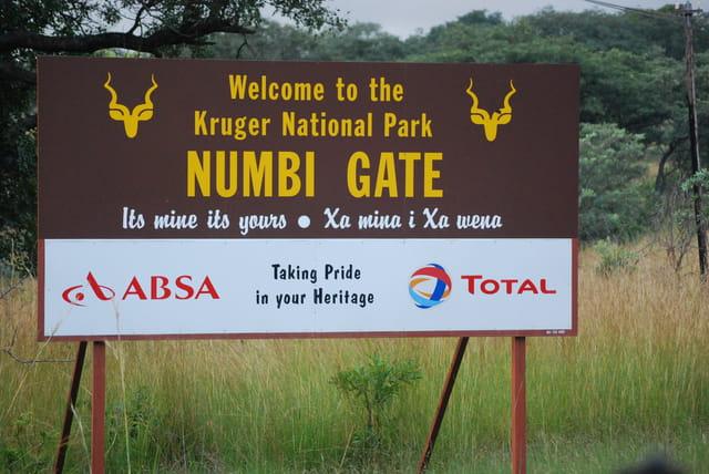 Entrée de la réserve animalière Kruger