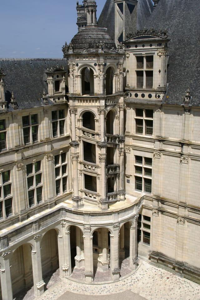 Escalier château de Chambord