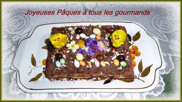 et Joyeuses Pâques à tous les gourmands avec le gâteau des familles