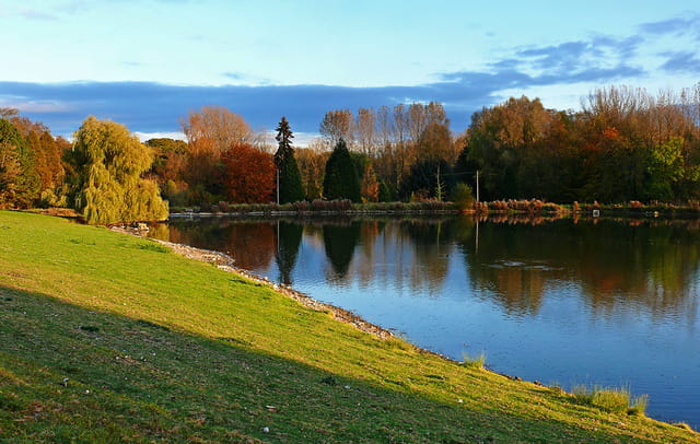 Etang dans son écrin d'automne