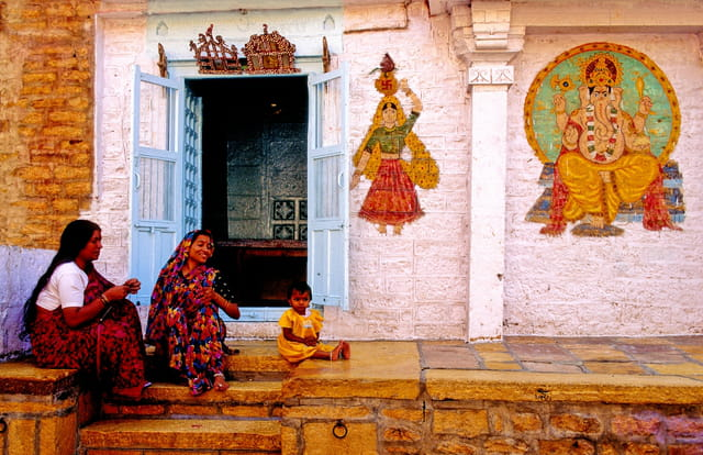Façade de maison à jaisalmer