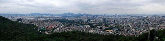 Face sud de Séoul