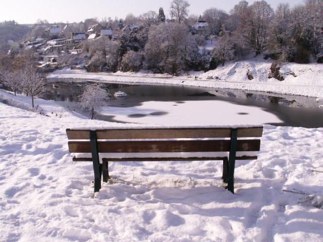 Falaise sous la neige