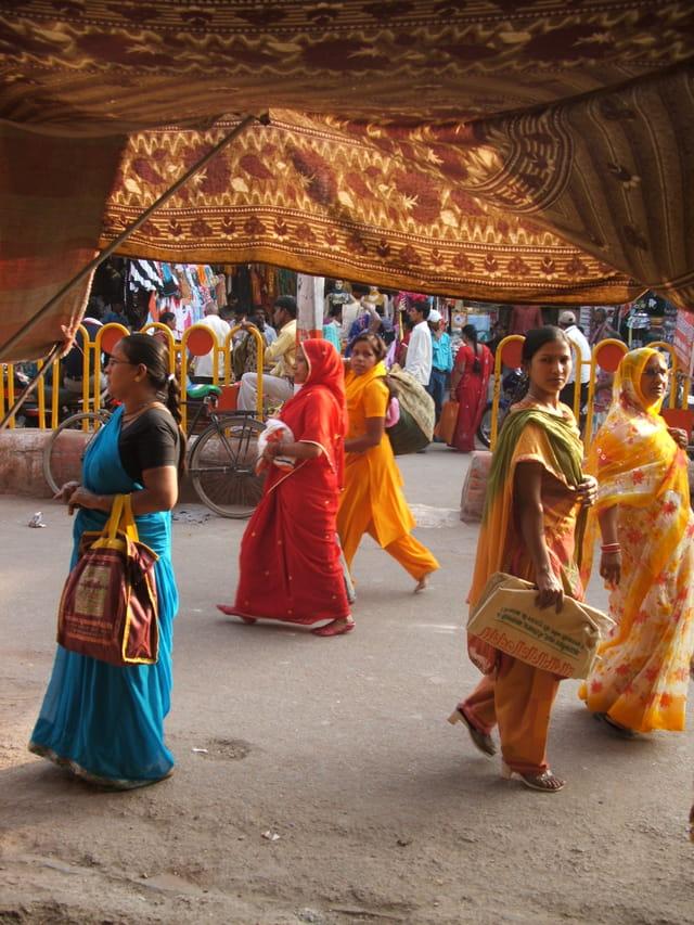 Femmes en sari