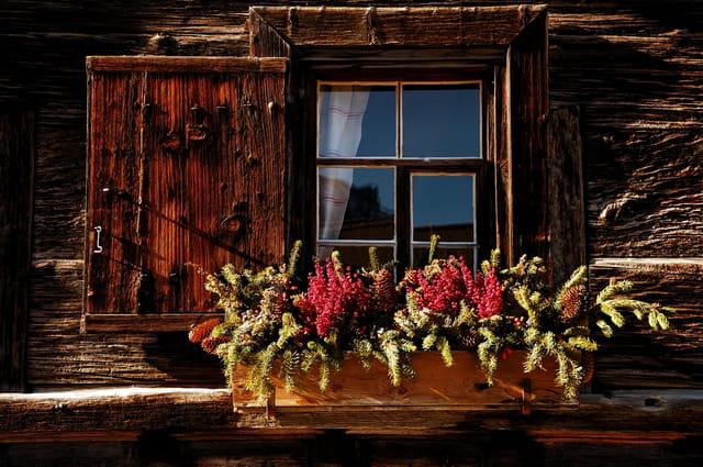 Fenêtre de chalet