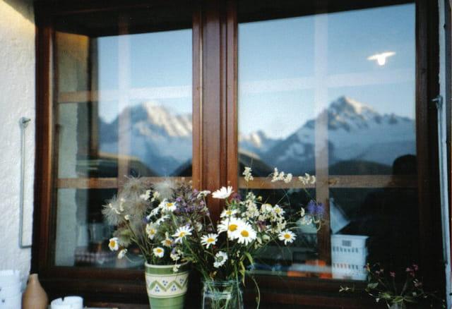 Fenêtre sur la montagne