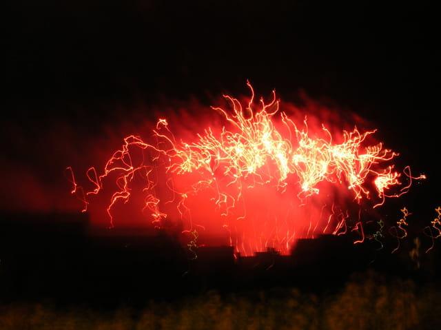 Feu d'artifice ou volcan ?