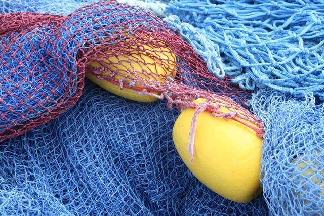 Filets de pêche à Concarneau