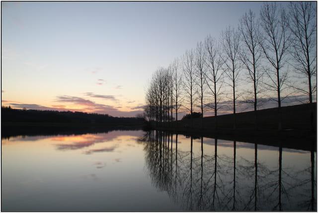 Fin d'après-midi autour du lac de Serres-Castet