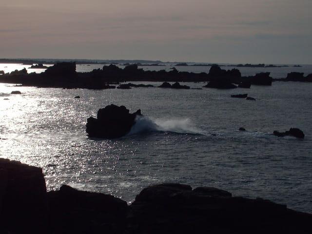 Fin d'après midi sur la mer