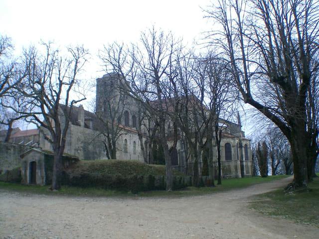 Fin d'hiver sur l'abbaye