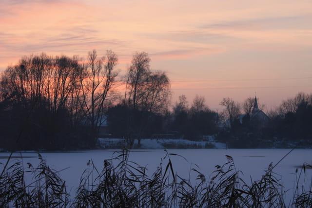 Fin de journée hivernale