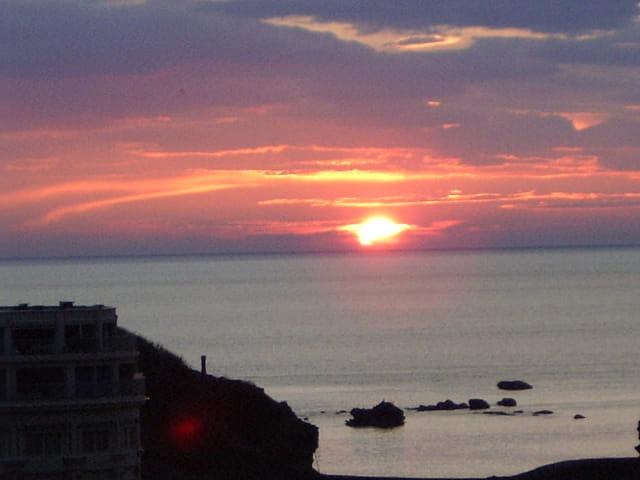 Fin de journee sur biarritz