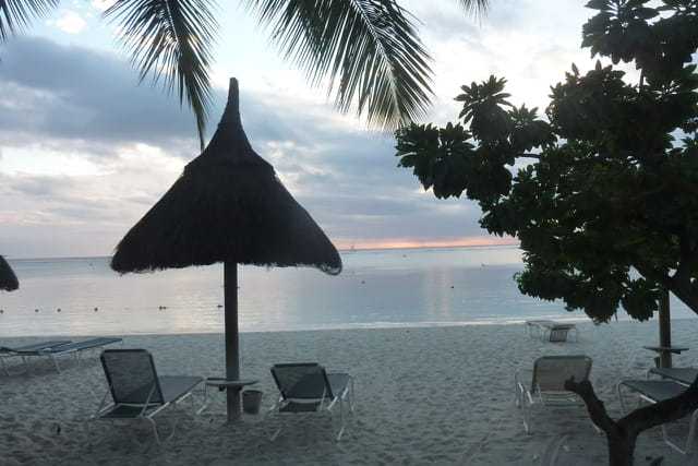 Fin de journée sur la plage