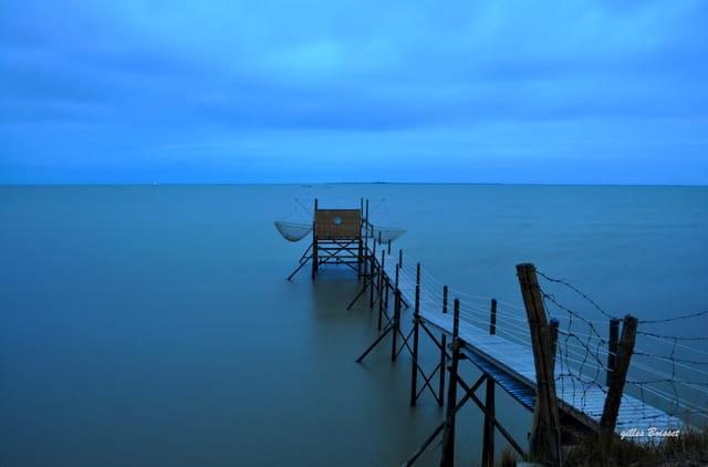 fin de nuit sur la baie de l'Aiguillon