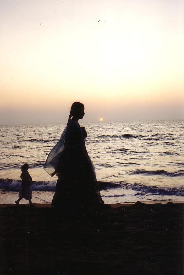 Flânerie sur la plage, le soir
