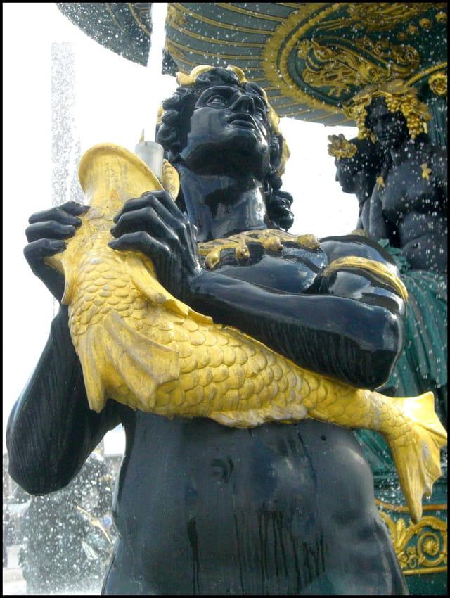Fontaine des Fleuves à la Concorde (détail)