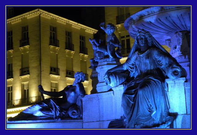 Fontaine (détail) de la place Royale de Nantes