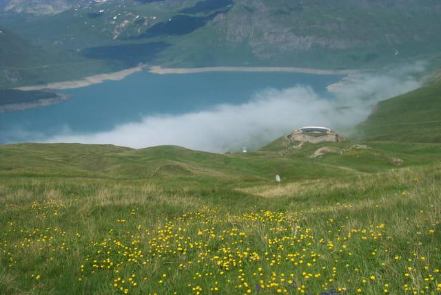 Fort de ronce et lac du mont-cenis