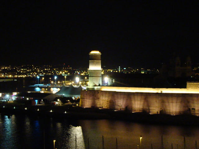 Fort St Jean by night