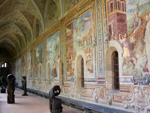 Fresque cloitre eglise Santa Chiara Napoli