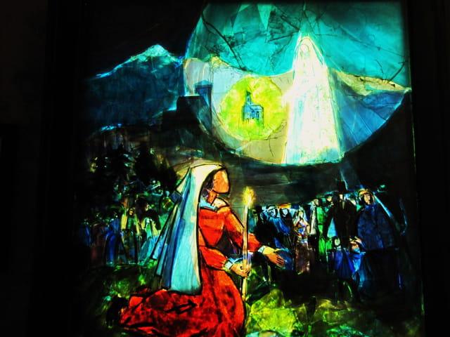 Fresque de la basilique souterraine de Lourdes
