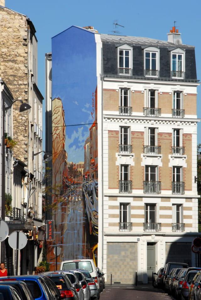 Fresque de la rue Brancion