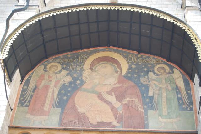fresque du XIV° siècle, Cathédrale de la Dormition
