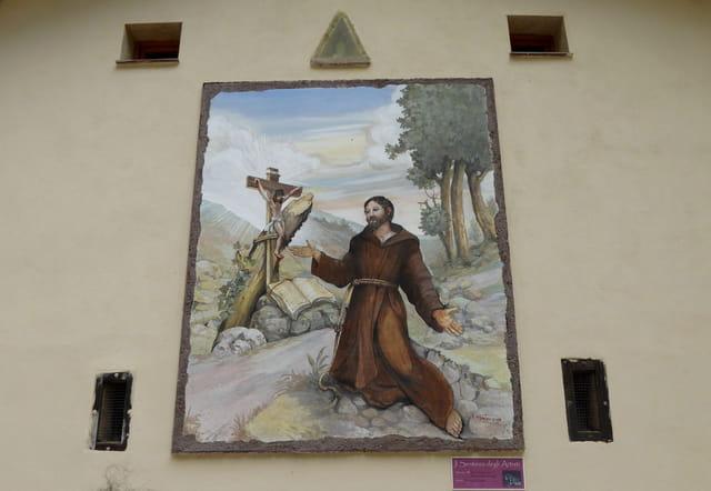 Fresque représentant St François d'Assise