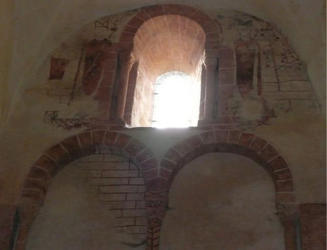 Fresques entrée église Gourdon
