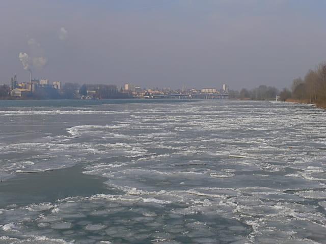 Froid polaire sur la Saône à Mâcon