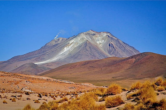 fumerolles du volcan Ullanque (5800 m)