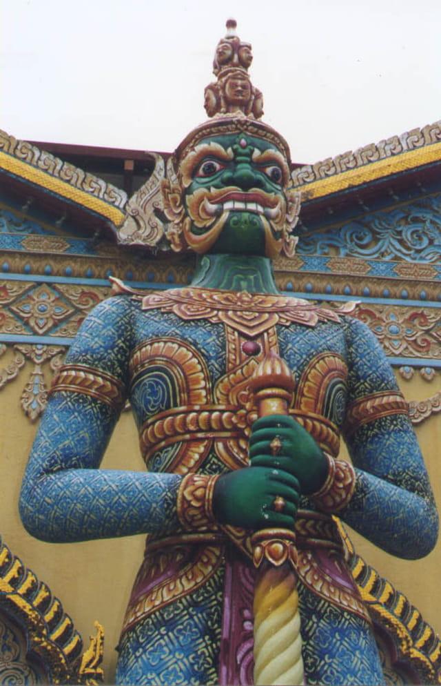 Gardien du temple boudiste