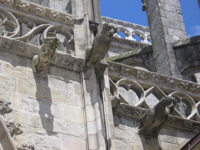 Gargouilles de la cathédrale Saint Corentin de Qimper