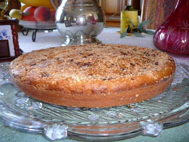 Gâteau au yaourt au citron, à la noix de coco  et aux pépites de chocolat