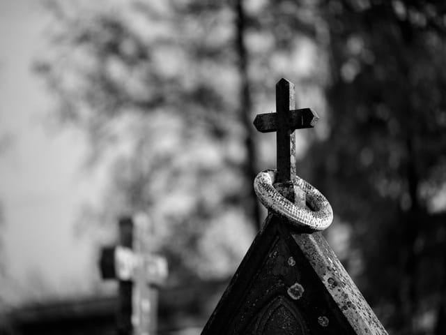 Ghost entre les croix.