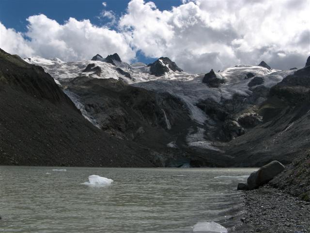 Glacier et lac