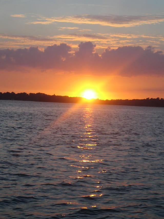 Golfe du morbihan coucher de soleil