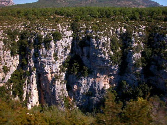 Gorges vue du pont d'Ayguines