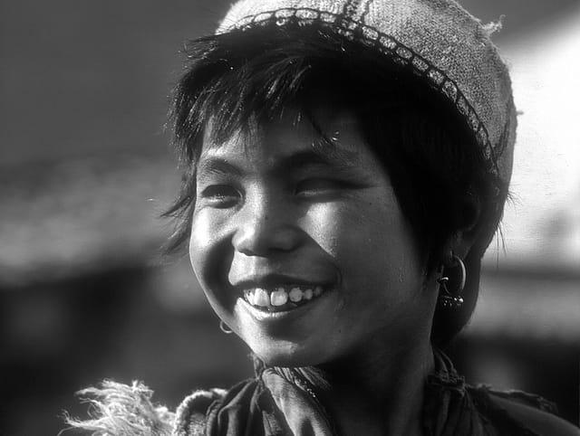 Gracieuse jeune fille Sherpa.