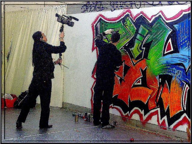 Graffeur en acte