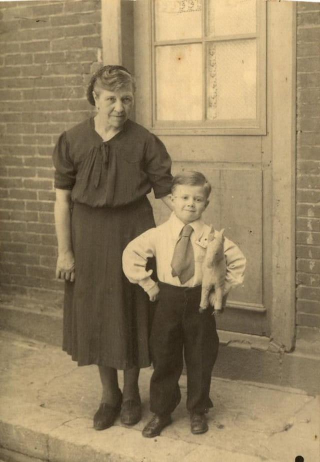 Grand mère et françois