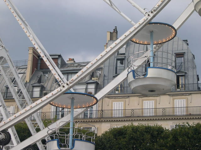 Grand-roue, toits de Paris