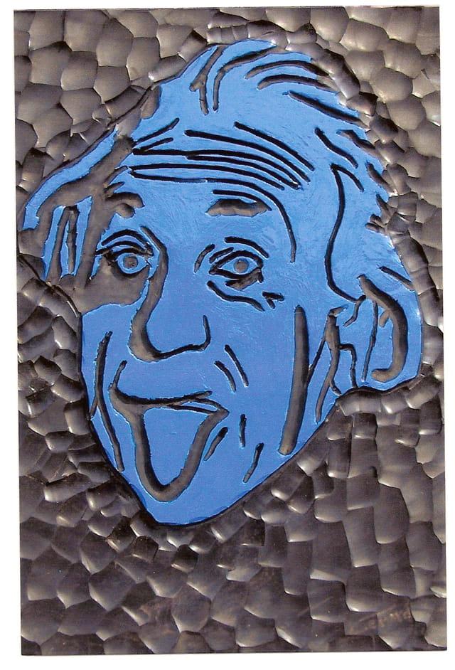 Gravure sur caoutchouc A .Einstein