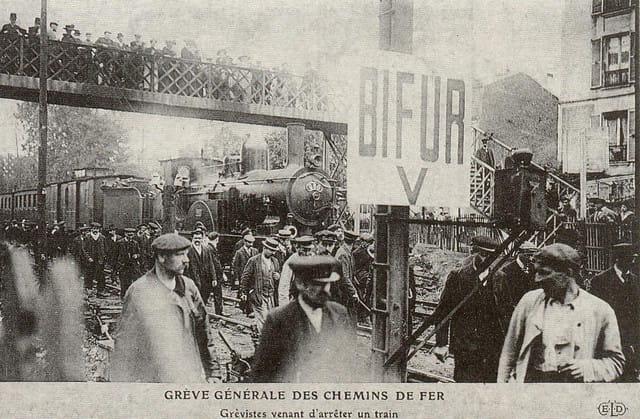 Grève des chemins de fer