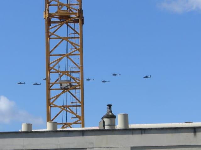Grue et hélicoptères