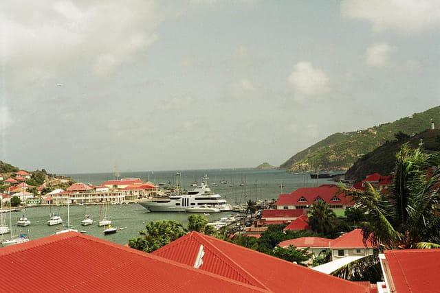 Gustavia, vue sur le port