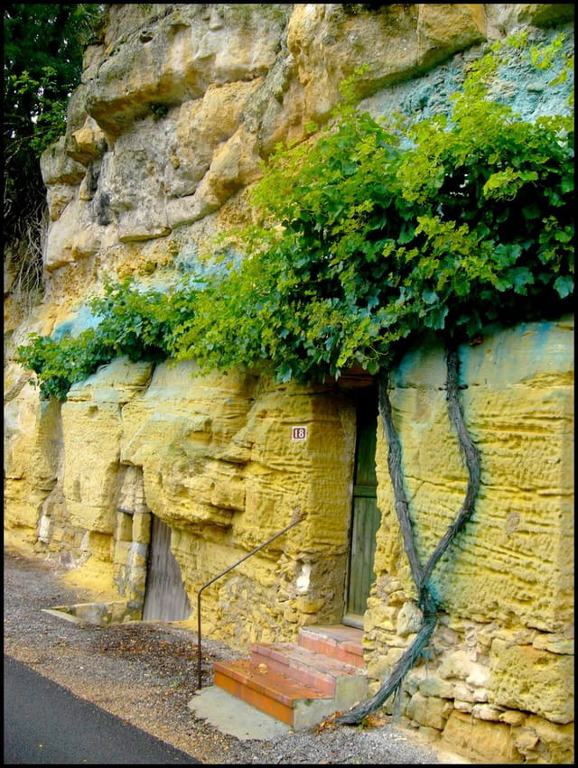 Habitat troglodyte en Touraine